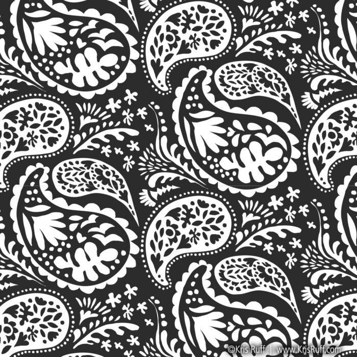 Black Matisse Paisley ©Kris Ruff