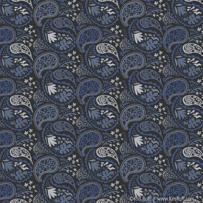 Matisse Paisley Blue ©Kris Ruff