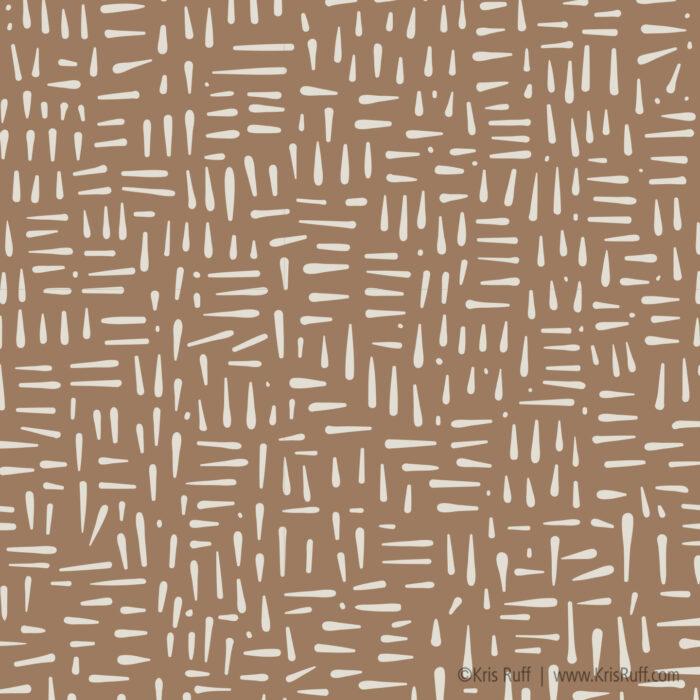 Mocha Staccato fabric ©Kris Ruff