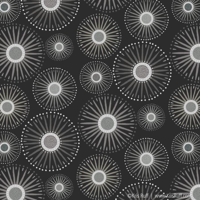 Black Sunburst Fabric ©Kris Ruff