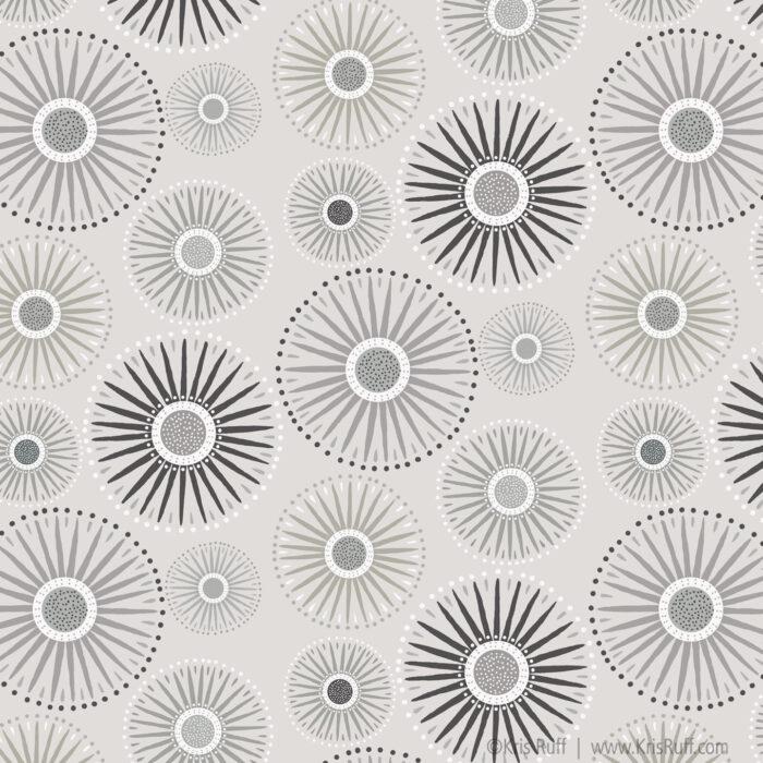 Light Gray Sunburst fabric ©Kris Ruff