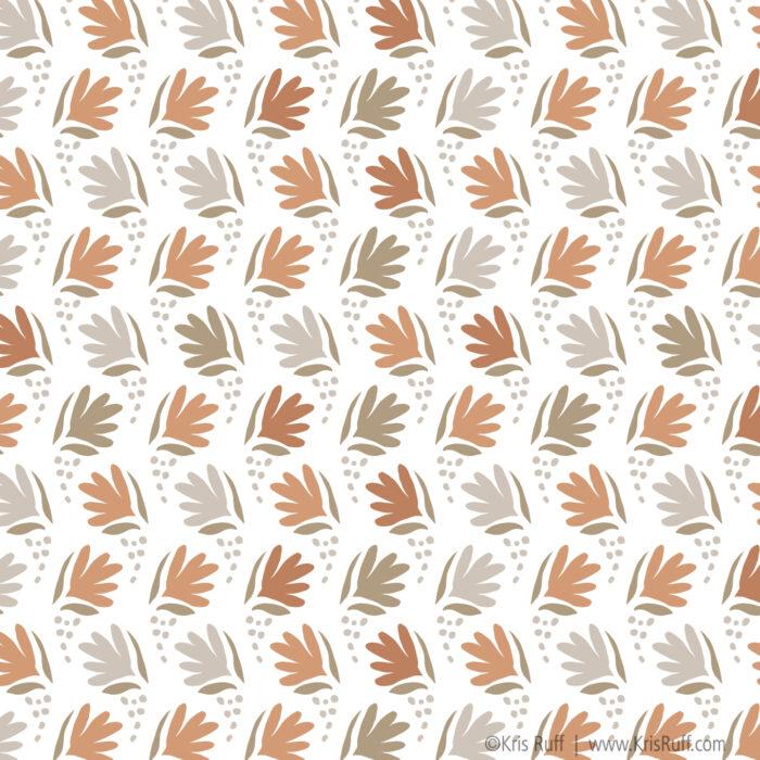 Waving Flowers fabric ©Kris Ruff